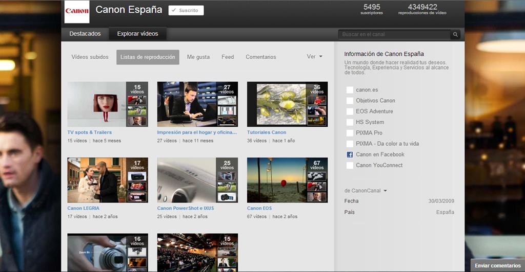 image9 - Canal en YouTube de Canon